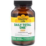 Отзывы о Country Life, Daily Total One, без железа, 60 вегетарианских капсул