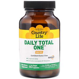 Кантри Лайф, Daily Total One, Iron-Free, 60 Vegan Capsules отзывы