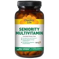 Мультивитамин для пожилого возраста, 120 вегетарианских капсул - фото