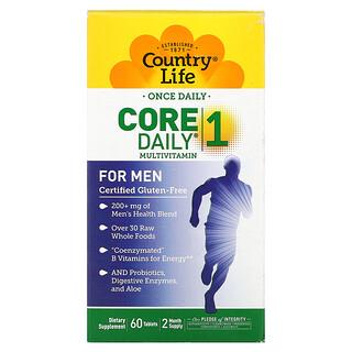 Country Life, Мультивитамины Core Daily-1, для мужчин, 60 таблеток