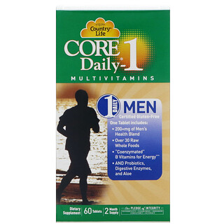 Country Life, Core Daily-1 Multivitamins, Men, 60 Tablets
