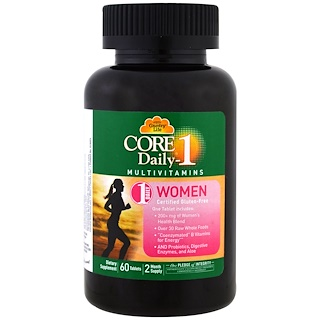 Country Life, Core Daily-1 Multivitamins, Women, 60 Tablets