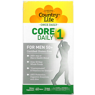 Country Life, Core Daily-1, For Men 50+, 60 Tablets