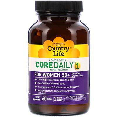 Купить Country Life Мультивитамины Core Daily-1 для женщин старше 50 лет, 60 таблеток