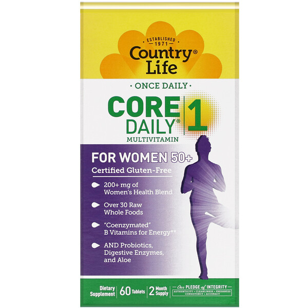 Country Life, Core Daily-1 Multivitamin, Women 50+, 60 Tablets