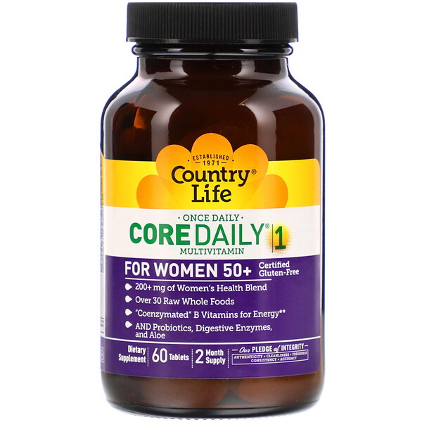 Core Daily-1 Multivitamin for Women 50+, 60 Tablets