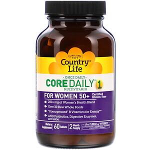 Кантри Лайф, Core Daily-1 Multivitamin for Women 50+, 60 Tablets отзывы покупателей