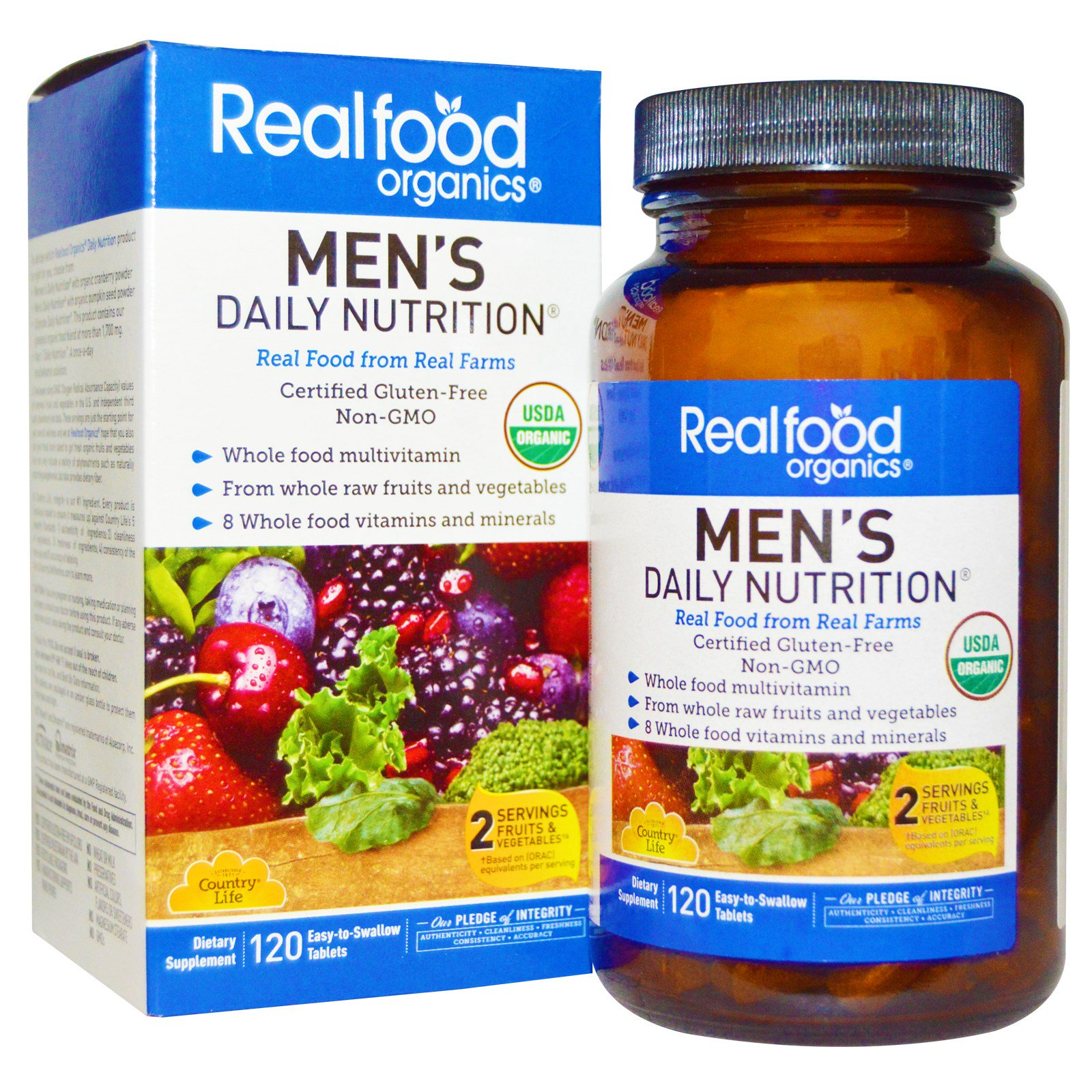 Country Life, Realfood Organics, ежедневное питание для мужчин, 120 таблеток