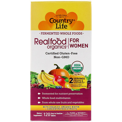 Realfood Organics, For Women, 120 Easy to Swallow Tablets