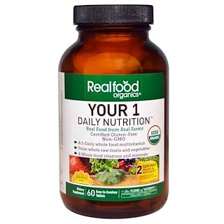 Country Life, Realfood Organics, Your 1 Daily Nutrition, 60 Tabs