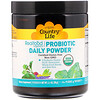 Country Life, Realfood Organics, Probiotic Daily Powder, 3.1 oz (90 g)