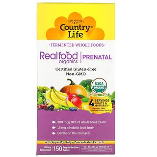 Country Life, Realfood Organics,产前,150 片易吞咽片剂