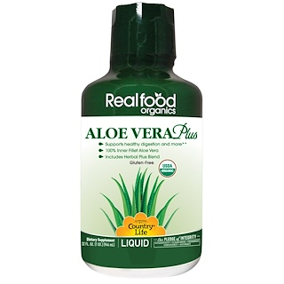 Country Life, Realfood Organics, Aloe Vera Plus, 32 fl oz (944 ml)