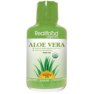 Country Life, Realfood Organics, Aloe Vera Liquid, 32 fl oz (944 ml)