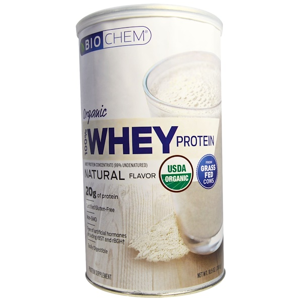 Country Life, BioChem, Organic, 100% Whey Protein, Natural Flavor, 10、5 oz (300 g)