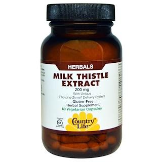 Country Life, Milk Thistle Extract, 200 mg, 60 Veggie Caps