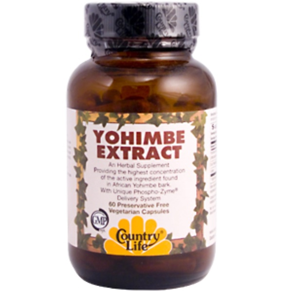 Country Life, Yohimbe Extract, 60 Veggie Caps (Discontinued Item)
