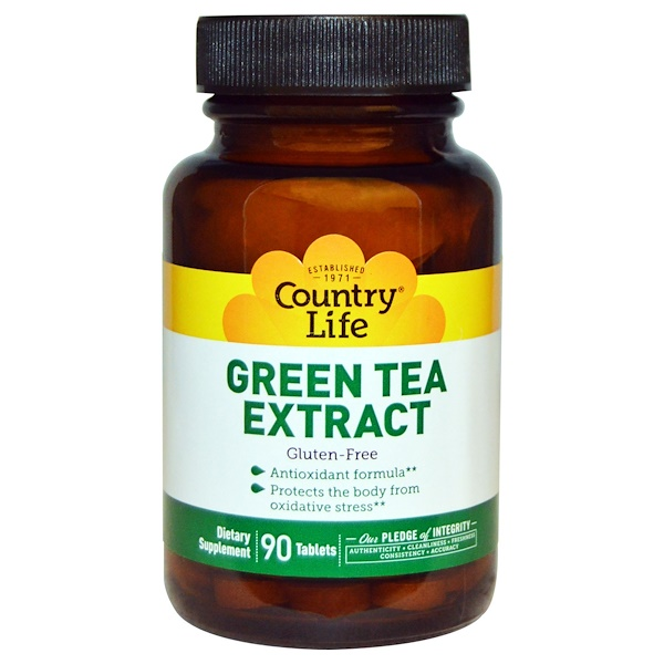Country Life, Green Tea Extract, 90 Tablets (Discontinued Item)