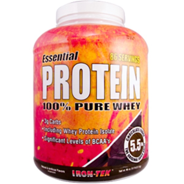 Country Life, Iron Tek, Essential Protein, 100% Pure Whey, Chocolate Fudge Flavor, 79.7 oz (5 lbs.) (Discontinued Item)