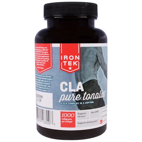 Country Life, Iron-Tek, CLA, Pure Tonalin CLA Complex, 1000 mg, 90 Softgels