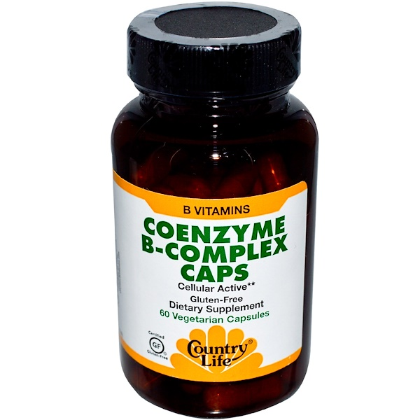 Country Life, Coenzyme B-Complex Caps, 60 Veggie Caps (Discontinued Item)