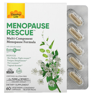 Country Life, Menopause Rescue, 60 Vegetarian Capsules