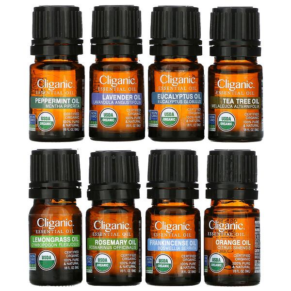 Essential Oils, Aromatherapy Set,  8 Piece Set
