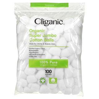 Cliganic, Organic Super Jumbo Cotton Balls, 100 Count
