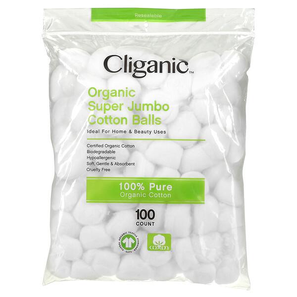 Organic Super Jumbo Cotton Balls, 100 Count