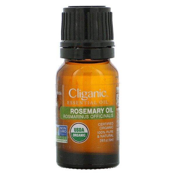 100% Pure Essential Oil, Rosemary Oil,  2/6 fl. oz. (10 ml)