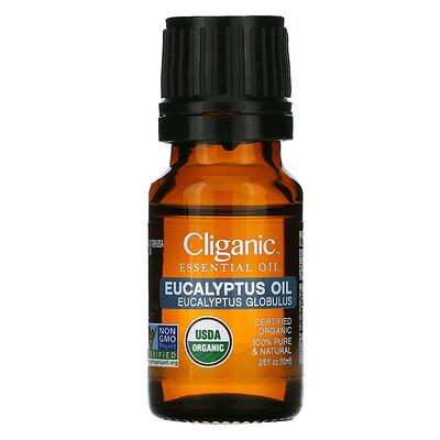 Купить Cliganic 100% Pure Essential Oil, Eucalyptus, 2/6 fl oz (10 ml)