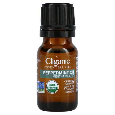 Cliganic 100% Pure Essential Oil, Peppermint, 0.33 fl oz, 10 ml