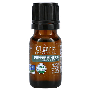 Cliganic, 100% Pure Essential Oil, Peppermint, 0.33 fl oz, 10 ml