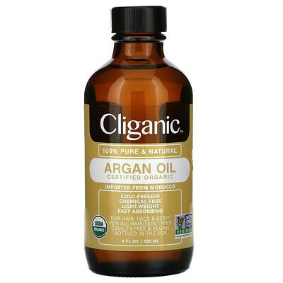 Cliganic 100% Pure & Natural Argan Oil, 4 fl oz (120 ml)
