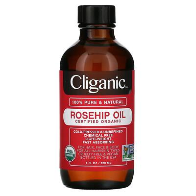 Купить Cliganic Organic Rosehip Oil, 4 fl oz (120 ml)