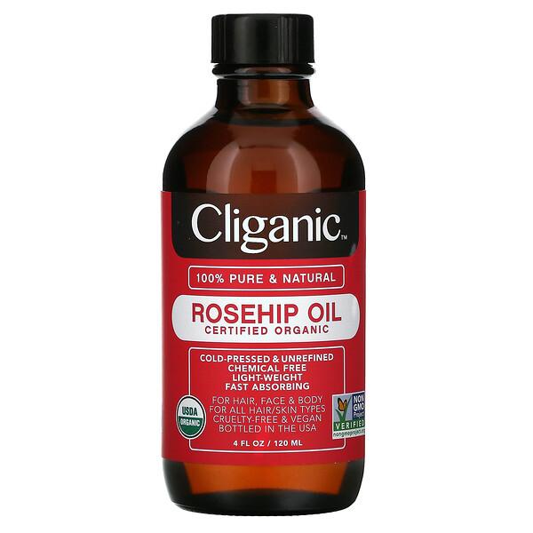 Cliganic, Organic Rosehip Oil, 4 fl oz (120 ml)