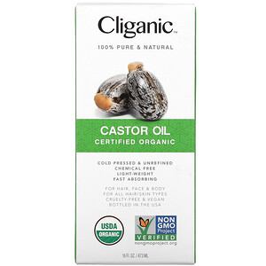 Cliganic, Organic Castor Oil, 16 fl oz (473 ml)'