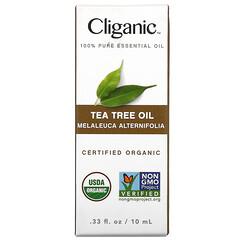 Cliganic, 全純精油,茶樹,0.33 液量盎司(10 毫升)