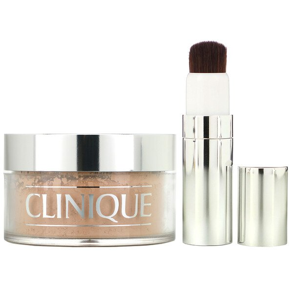Clinique, Blended Face Powder and Brush, 03 Transparency (MF/M), 1.2 oz (35 g) (Discontinued Item)