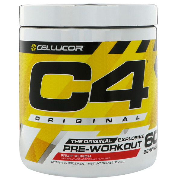 C4 Original Explosive, Pre-Workout, Fruit Punch, 12.7 oz (360 g)
