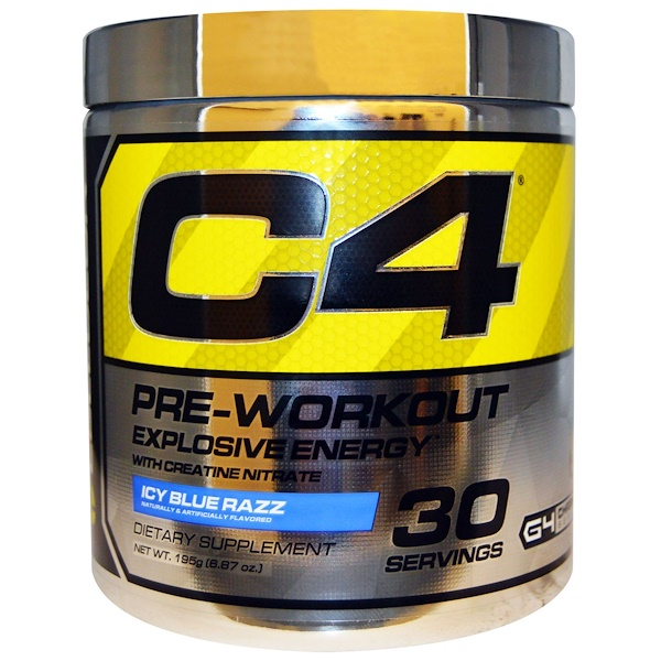 Cellucor, C4, Pre-Workout, Explosive Energy, Icy Blue Razz, 6.87 oz (195 g) (Discontinued Item)