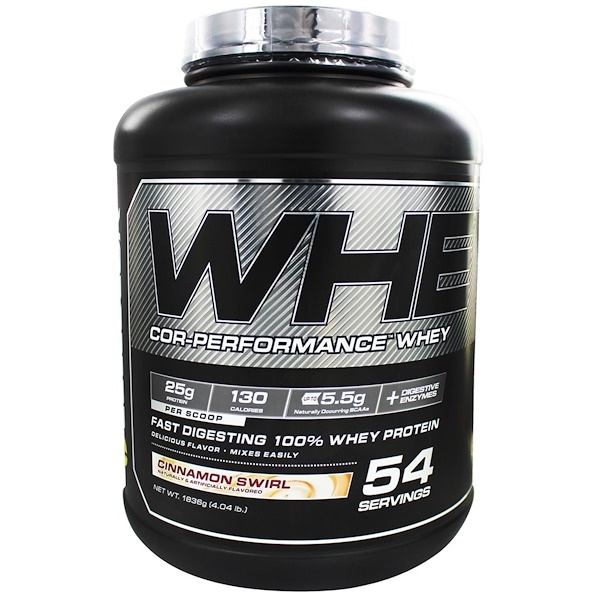 Cellucor, Whey, Cor-Performance Whey, Cinnamon Swirl, 4.04 lbs (1836 g) (Discontinued Item)