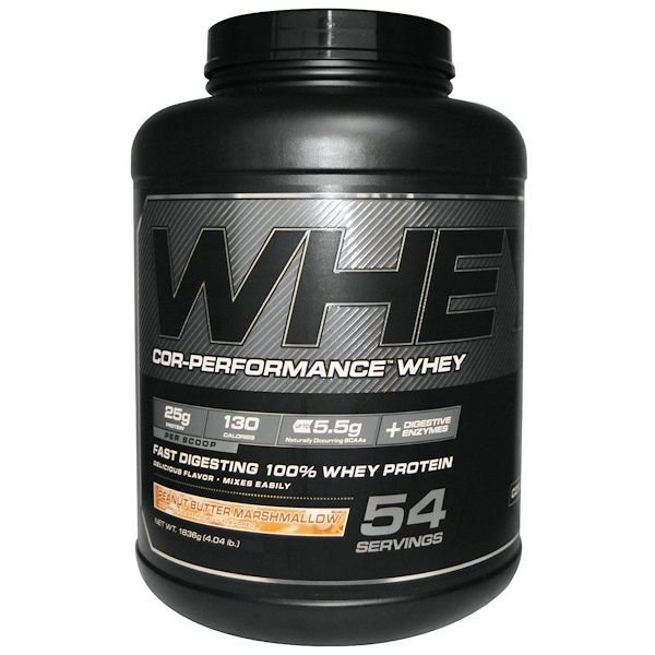 Cellucor, Cor-Performance Whey, Peanut Butter Marshmallow, 4.04 lb (1836 g) (Discontinued Item)