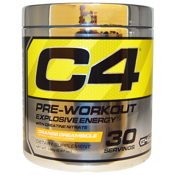 Cellucor, C4, Pre-Workout, Explosive Energy, Orange Dreamsicle, 6.87 oz (195 g) (Discontinued Item)