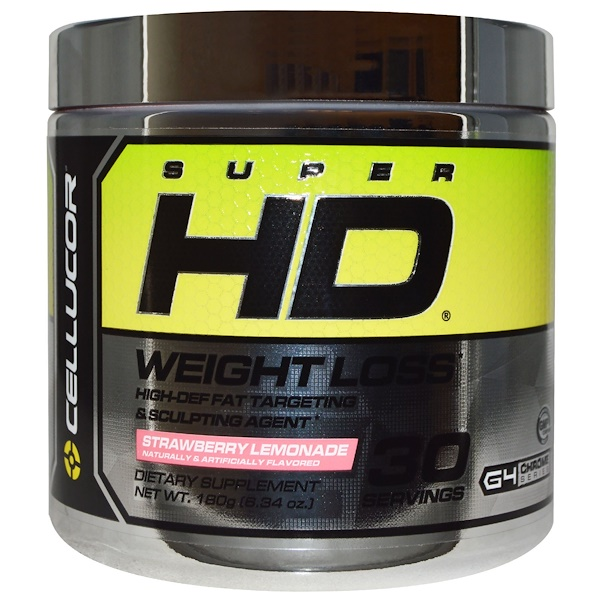 Cellucor, Super HD, Weight Loss, Strawberry Lemonade, 6、34 oz (180 g)