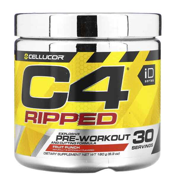 C4 Ripped, Pre-Workout, Fruit Punch, 6.34 oz (180 g)