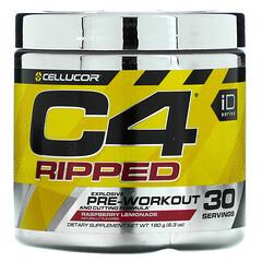 Cellucor, C4 Ripped,鍛鍊前,樹莓檸檬水,6.3 盎司(180 克)