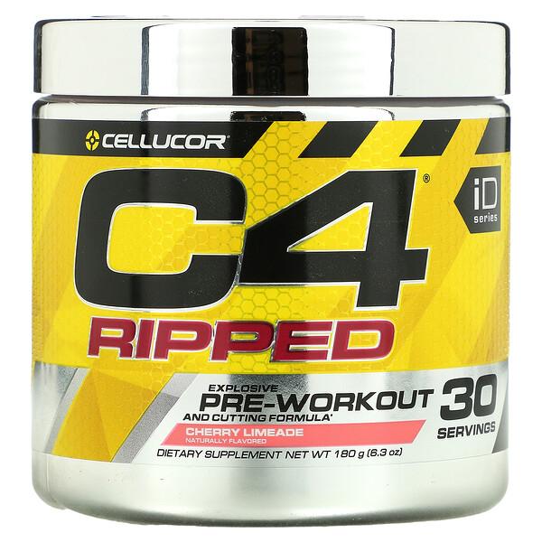 Cellucor, C4 Ripped, preentrenamiento, cereza y lima, 6.34 oz (180 g)