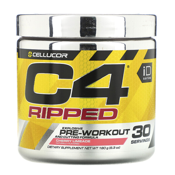 C4 Ripped, Pre-Workout, Cherry Limeade, 6.34 oz (180 g)