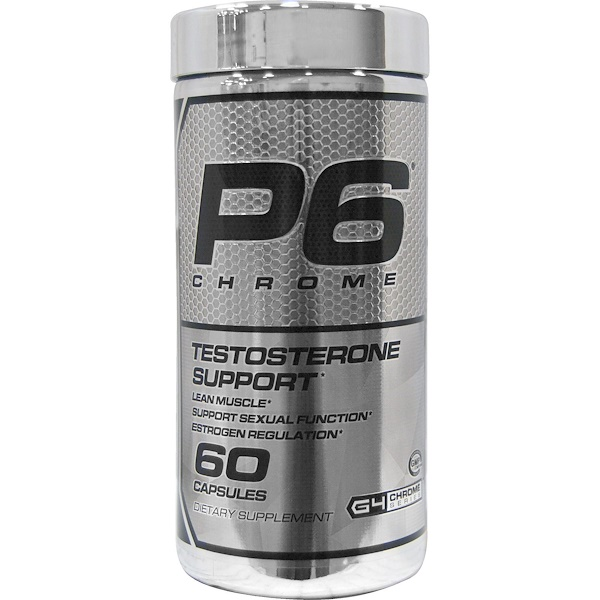 :Cellucor, P6 Chrome, Testosterone Support, 60 Capsules